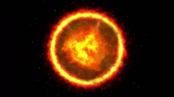 sluneční koróna oheň 4k