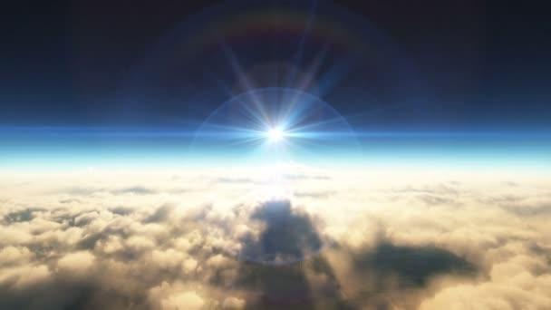přeletět mraky západu slunce