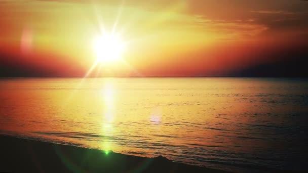 západ slunce moře Zpomalený pohyb