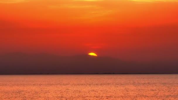 západ slunce moře 4k