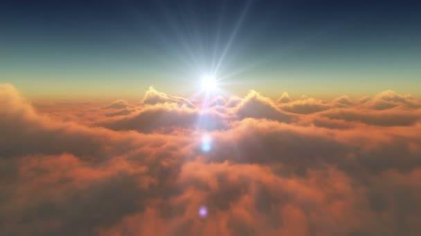 západ slunce nad mraky 4k
