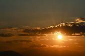 krásný zlatý západ slunce nebe krajina, přírodní pozadí