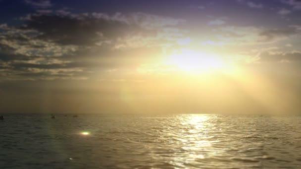 sunset beach wave slow motion