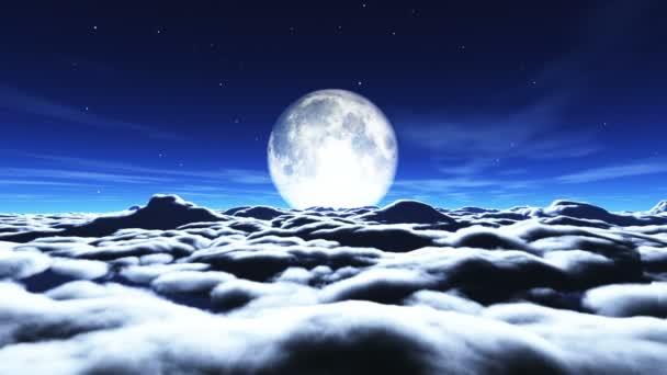 álom repülni a felhők és a Hold