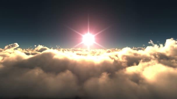 západ slunce překrýt mraky