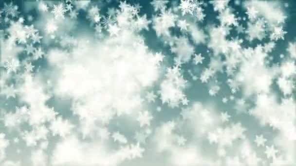 Krásné vánoční vločky bezešvé klesá