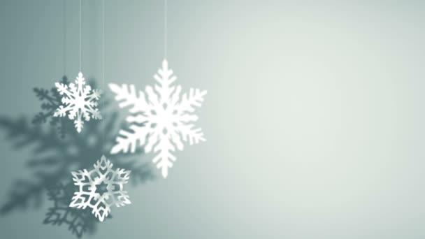 Fiocchi Di Neve Di Carta 3d : Tre fiocchi di neve di carta decorazione appesa e rotante u video