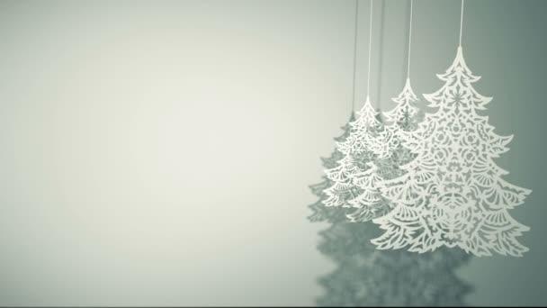 Kyvné tři vánoční stromy papírové ozdoby