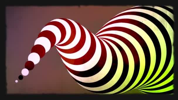 Abstraktní zebra 3d tvar animace. Zelená obrazovka zahrnuty