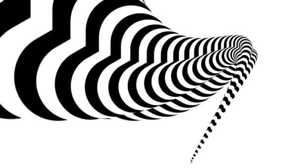 Zebra fehér és fekete absztrakt animáció formájában