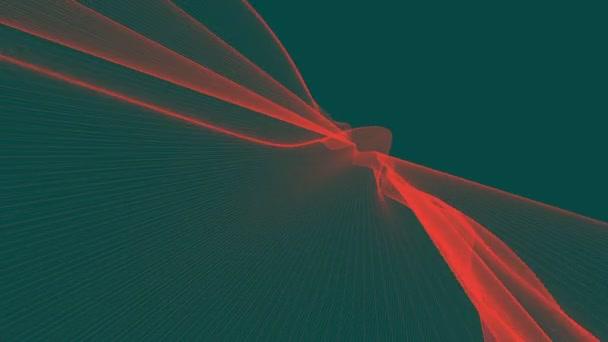 Grafikus absztrakt vonalak integetett. Elszigetelt sötétzöld