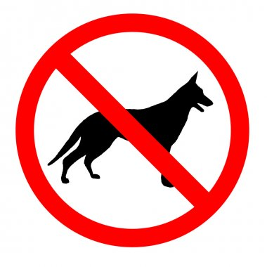 No dogs sign icon great for any use. Vector EPS10.
