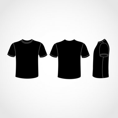 Black Shirt icon great for any use. Vector EPS10.