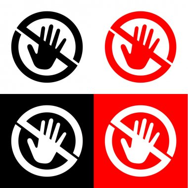 Don't touch icon great for any use. Vector EPS10.