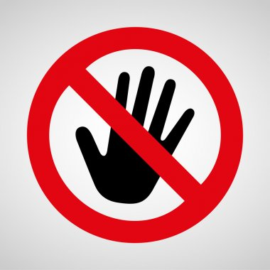 No touch icon great for any use. Vector EPS10.