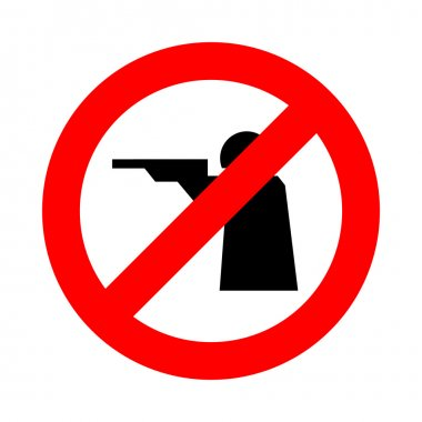 No shoot icon great for any use. Vector EPS10.
