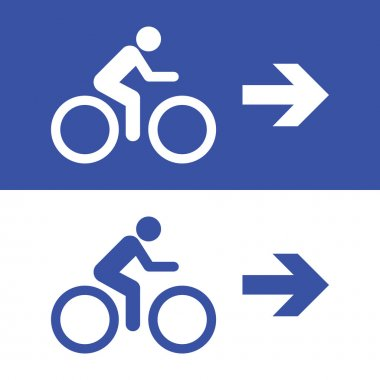Bicycle sign icons set great for any use. Vector EPS10.