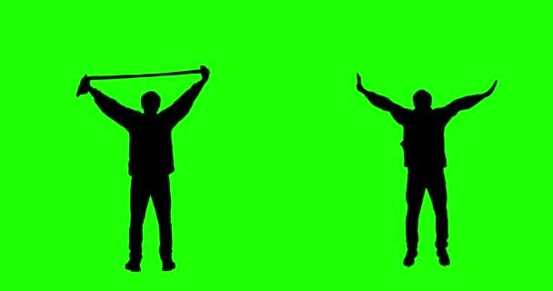 Jubelnden Fan auf Green-Screen