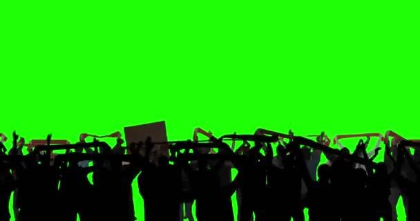 Fotbaloví fanoušci na zelené obrazovce