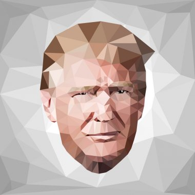 portrait Donald John Trump candidate low poly U.S.