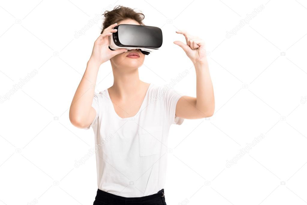 Очки виртуальной реальности девушка квадрокоптер dji phantom как поднять