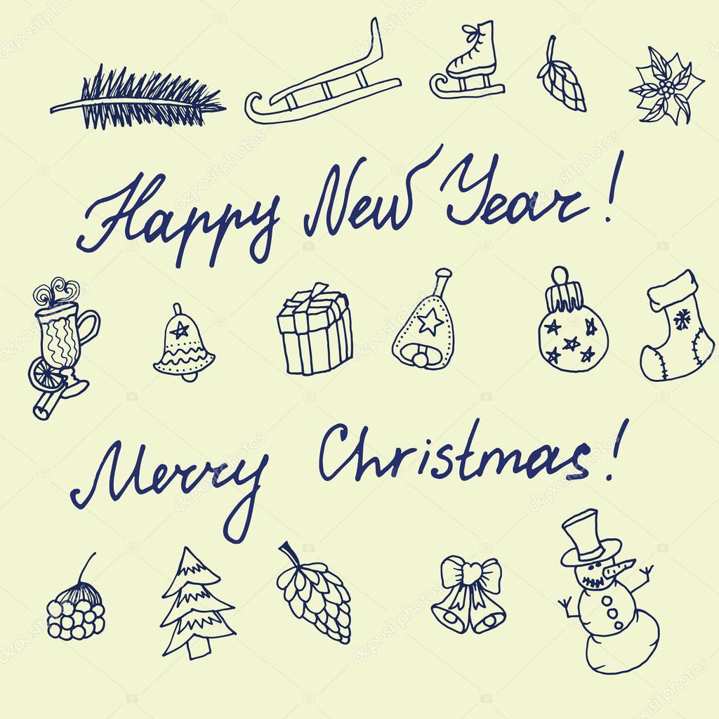 weihnachten-skizze — Stockvektor © Little_cuckoo #59471469