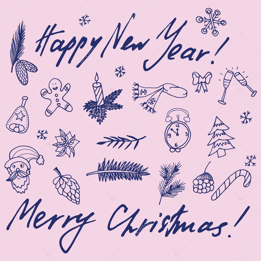 weihnachten-skizze — Stockvektor © Little_cuckoo #59471883