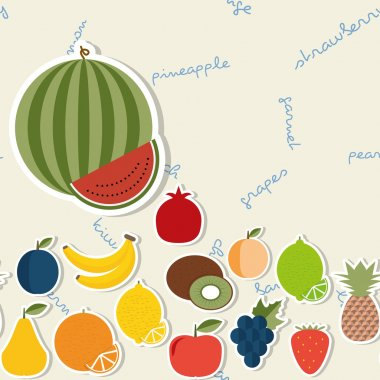 Fruit pattern. The image of fruits and berries