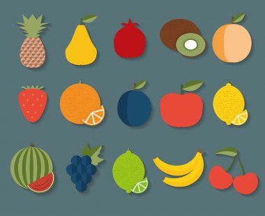 Fruit icon. The image of fruits and berries symbol