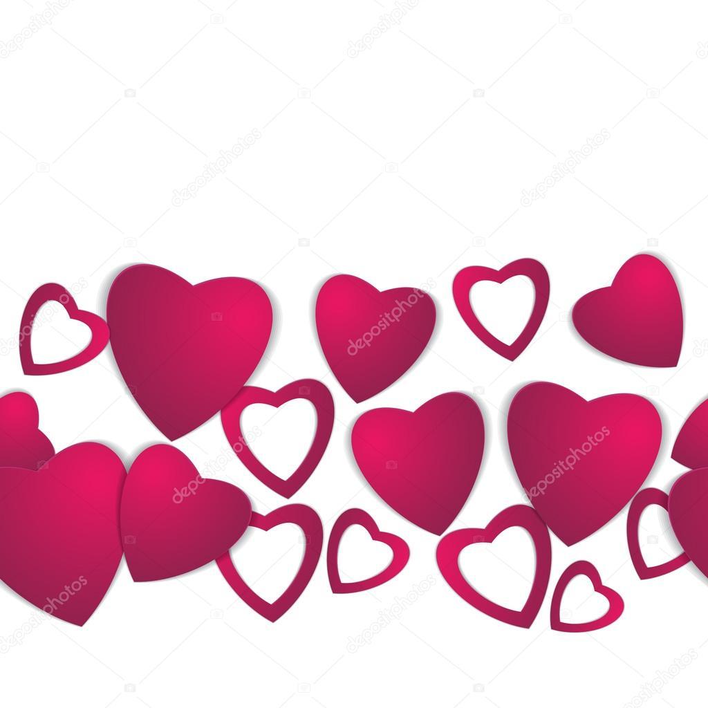 Valentinstag. Abstrakte Papier Herzen. Liebe. Valentine-Hintergrund ...
