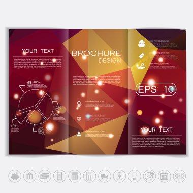Brochure Polygonal background  design
