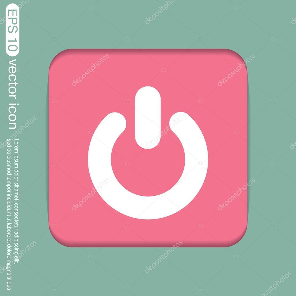 Zeichen der macht. ein- und ausschalten-Symbol — Stockvektor ...