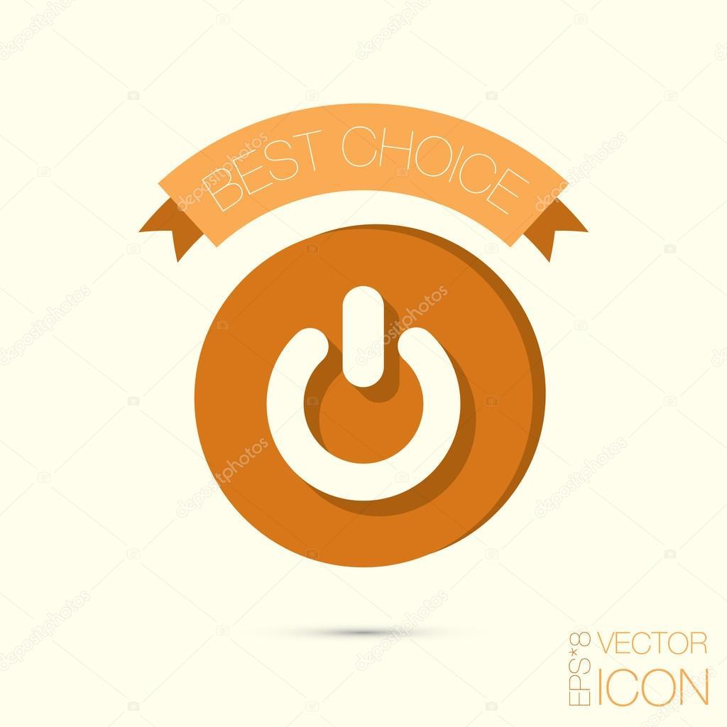 Macht, ein- und ausschalten-Symbol — Stockvektor © Little_cuckoo ...