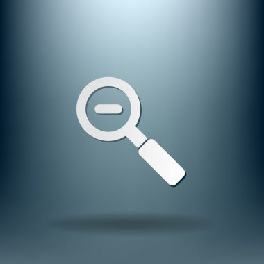 Magnifier glass. reduction icon