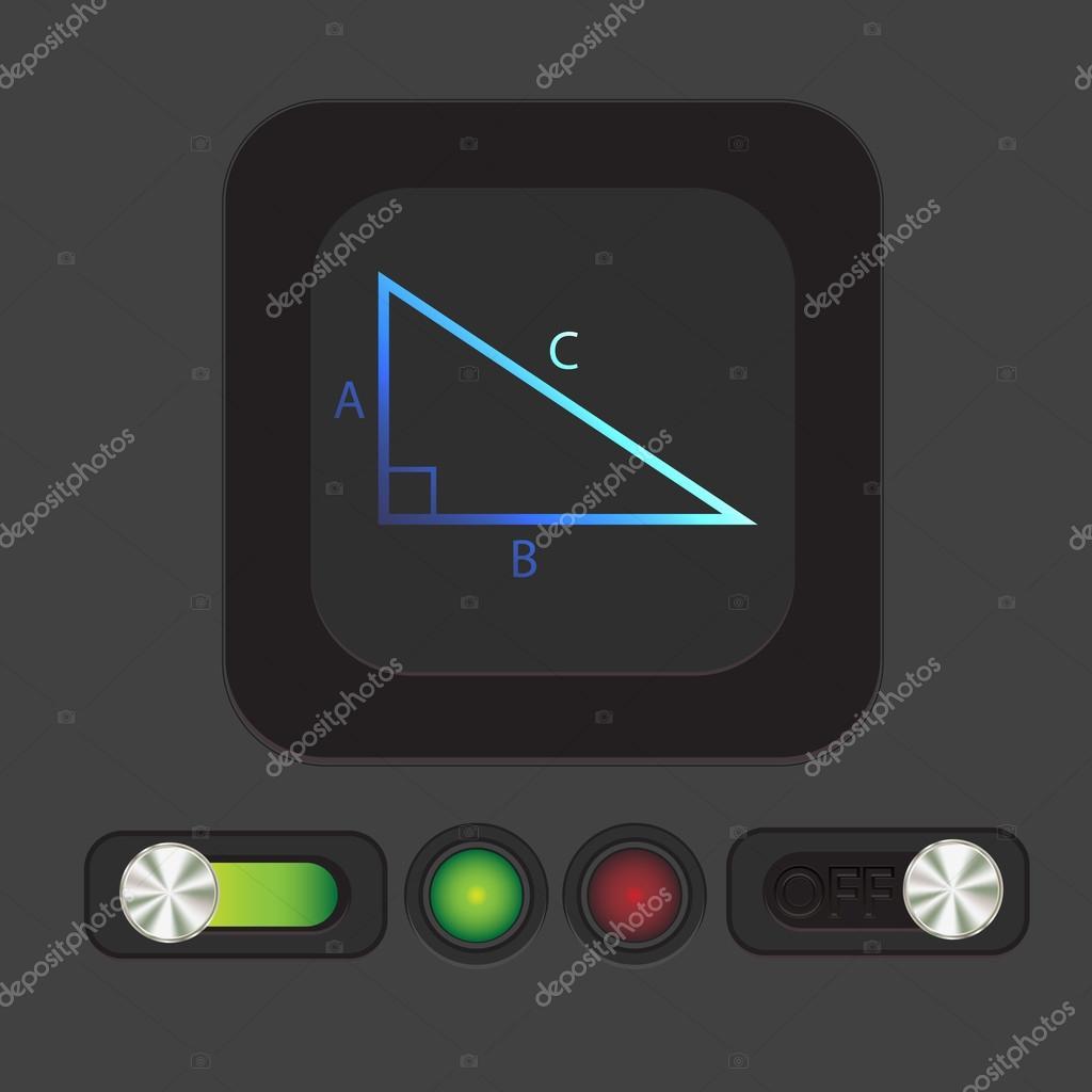 Triangle Math Icon Stock Vector Littlecuckoo 74936015