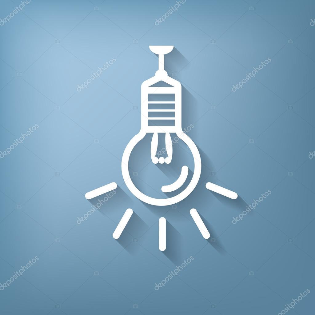 Symbol des elektrischen Lichts — Stockvektor © Little_cuckoo #75558787