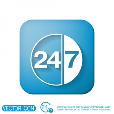 Character 24 7 icon