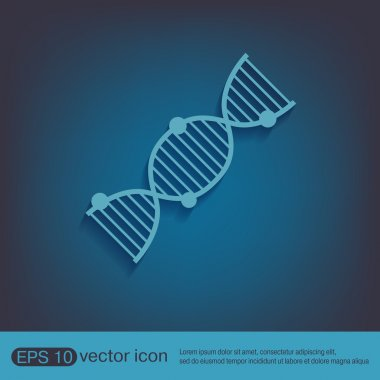 DNA helix. Medical Research character