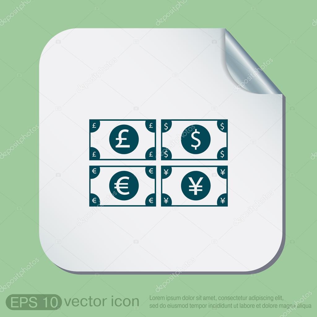Money Bill Symbol Icon Stock Vector Littlecuckoo 79601038