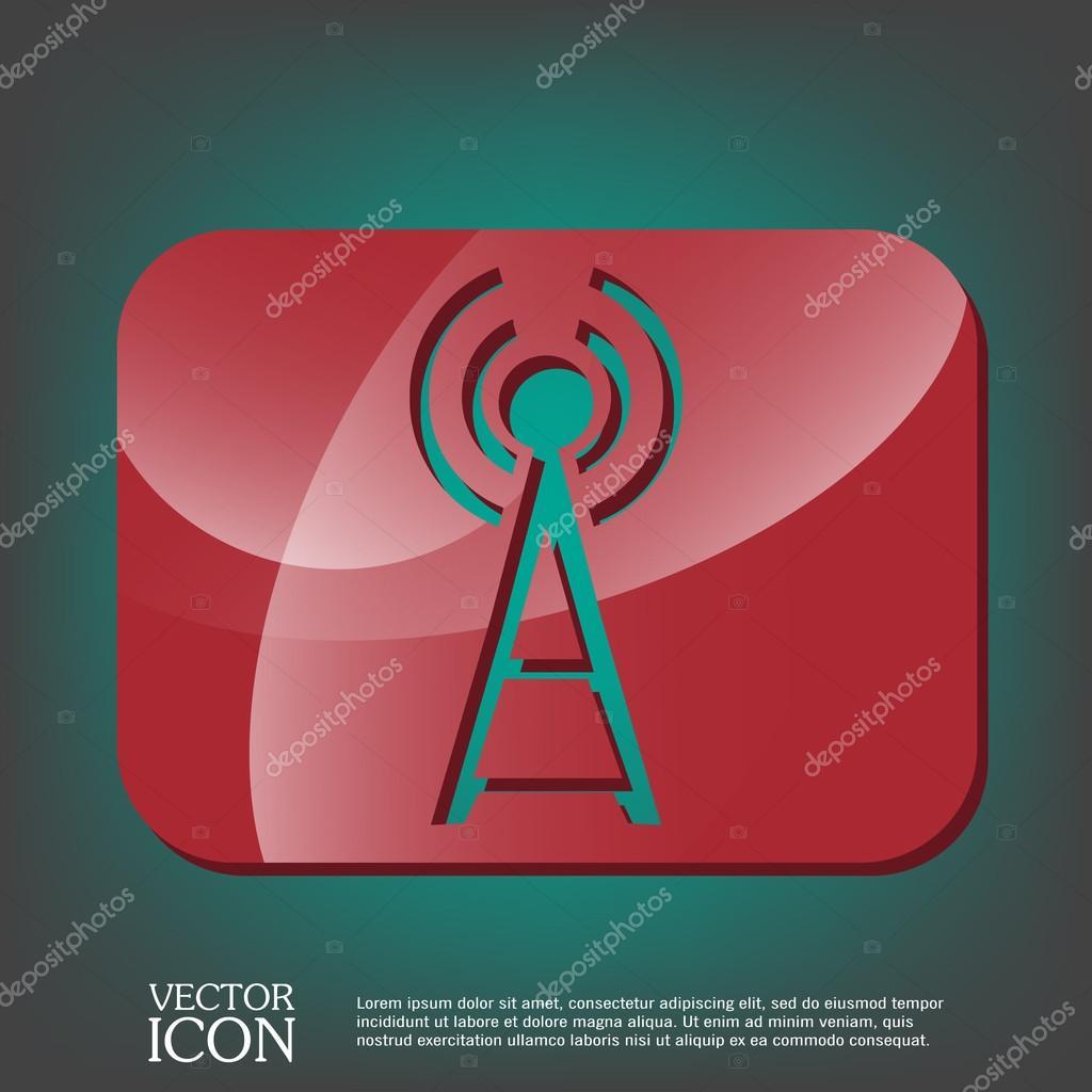 Turm-wi-Fi-Symbol — Stockvektor © Little_cuckoo #80642576