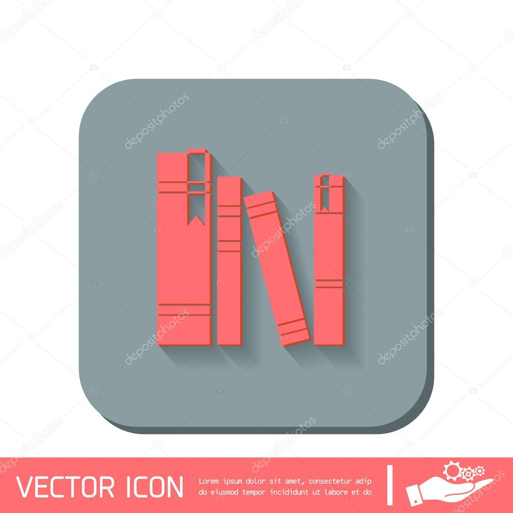 Spines Of Books Icon Symbol Stock Vector Littlecuckoo 82396666