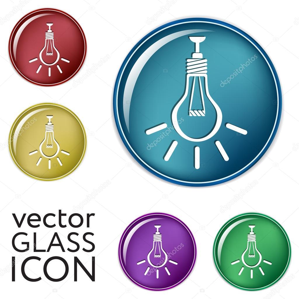 Symbole des elektrischen Lichts — Stockvektor © Little_cuckoo #83580518