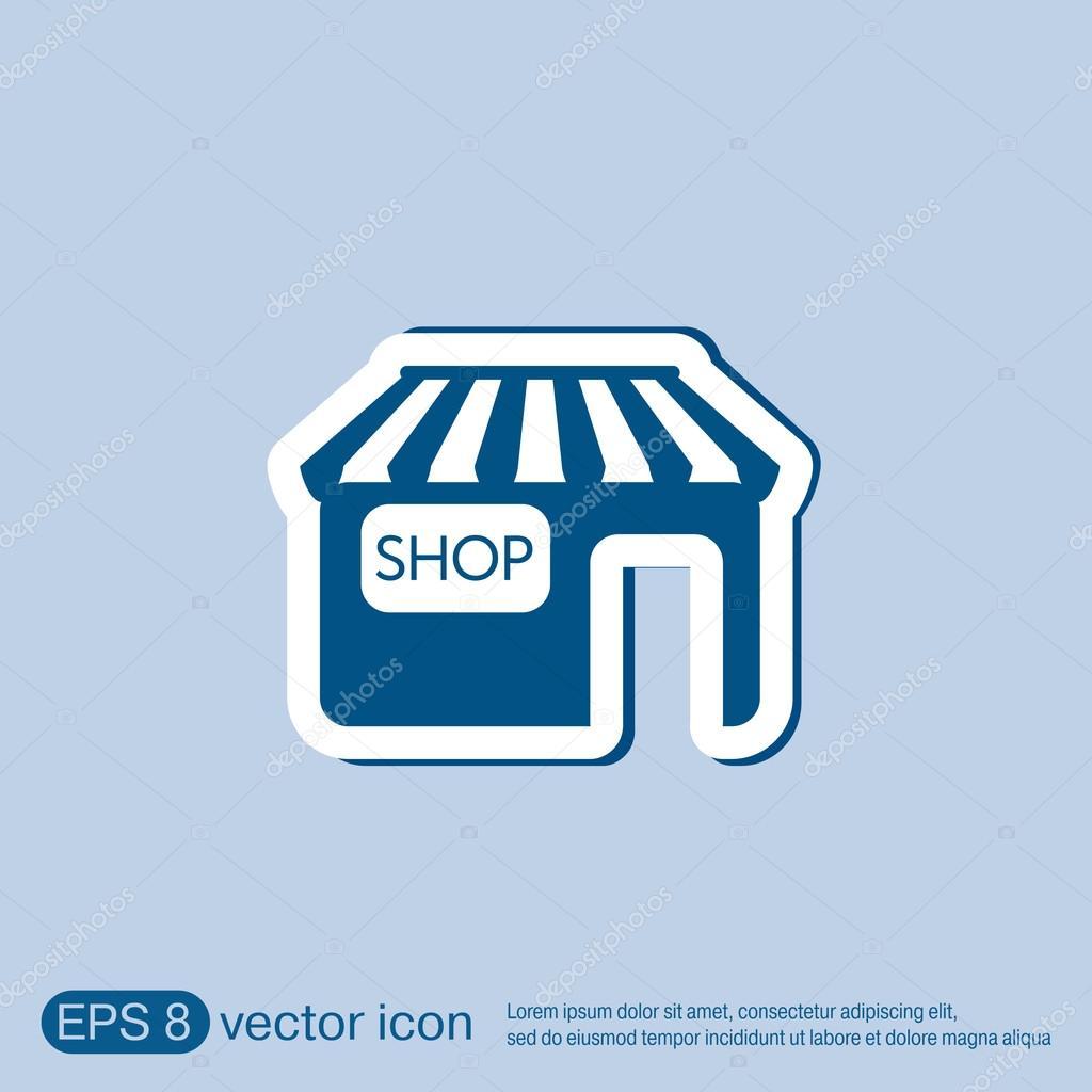 Shop building symbol icon store stock vector littlecuckoo shop building symbol icon store stock vector biocorpaavc