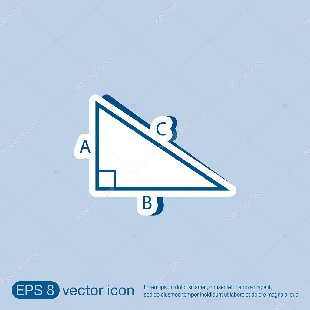Triangle Math Symbol Icon Geometry Stock Vector Littlecuckoo