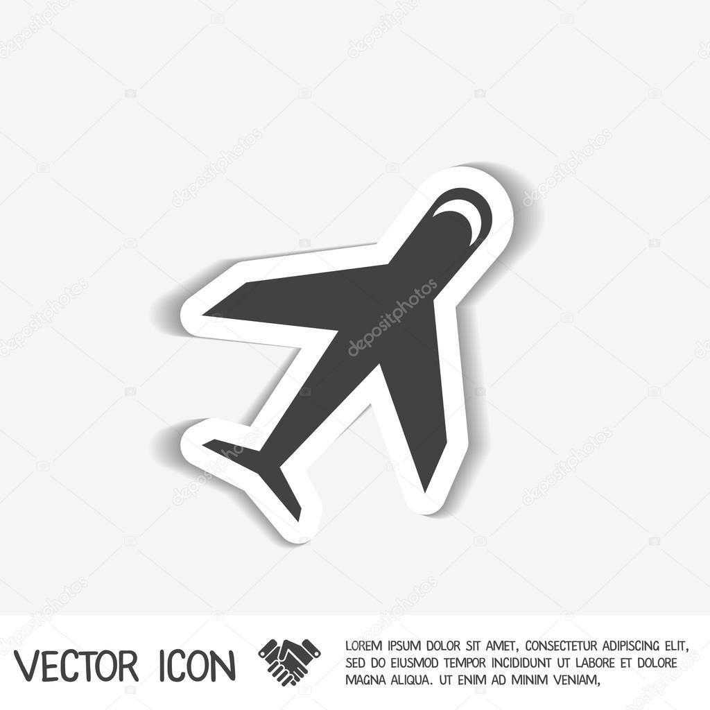 Airplane symbol icon stock vector littlecuckoo 87048196 airplane symbol icon stock vector buycottarizona Gallery