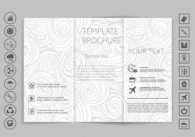 Tri-Fold Brochures mock up design.