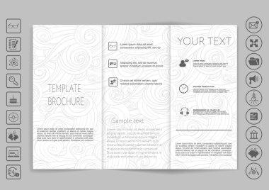 Tri-Fold Brochures mock up design.