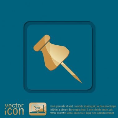 Pin for papers icon