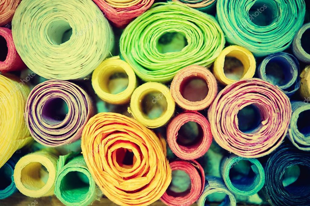 Rotoli Di Carta Colorata : Sfondo di carta colorata rotolo gelso u foto stock thegoatman