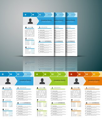 Resume in 3 Colors